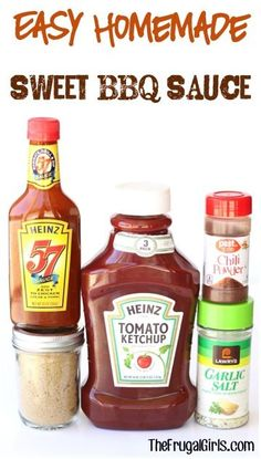 Easy Homemade Sweet BBQ Sauce Recipe! ~ from TheFrugalGirls.com ~ perfect for Chicken, Ribs and Burgers! It makes a fun Gift in a Jar, too! #barbecue #recipes #thefrugalgirls