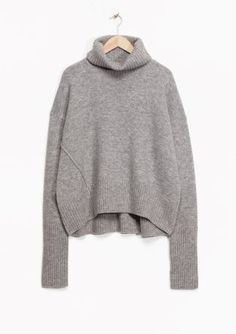 & Other Stories image 2 of Turtleneck Sweater in Grey