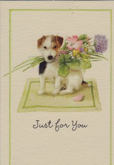 "Thank you Susan for filling our cottage with ""unconditional love"" today! A cottage full of love is a happy cottage! Wire Fox Terrier, Fox Terriers, Marjolein Bastin, Nature Artists, Nature Journal, Dutch Artists, Cute Illustration, Vintage Cards, Book Design"