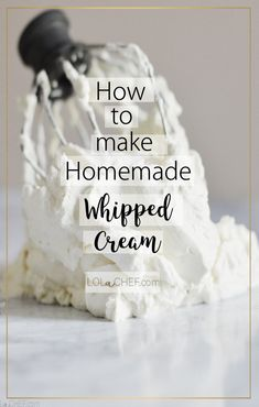 An easy homemade whipped cream recipe that holds its shape making it a perfect topping for pies, cupcakes and cakes. Homemade Whipped Cream, How To Make Homemade, Free Food, Delicious Desserts, Cupcakes, Shape, Easy, Recipes, Fit
