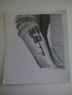 Drawing of Shawn's tattoo