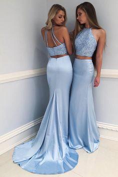 Prom Dresses 2018 Prom Dresses Two Piece Prom Dresses Cheap Prom Dresses Blue Prom Dresses Mermaid Open Back Prom Dresses, Prom Dresses Two Piece, Prom Dresses 2018, Cheap Prom Dresses, Two Piece Dress, The Dress, Sexy Dresses, Blue Dresses, Formal Dresses