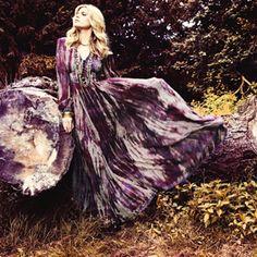 Hippie Tie Dye Wedding Dress