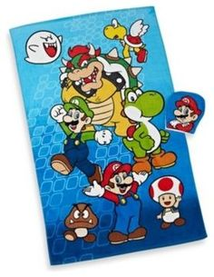 Super Mario Bros. Bath Towel and Wash Mitt Set