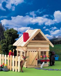 15 Homemade Popsicle Stick House Designs | Popsicle stick houses ...