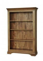 French Oak 5' Bookcase-http://solidwoodfurniture.co/product-details-oak-furnitures-354-french-oak-bookcase.html