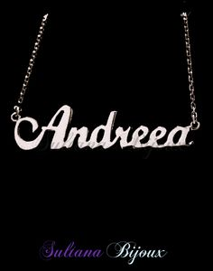 Colier din argint 925 personalizat cu numele ANDREEA.  Detalii pe: http://www.sultanabijoux.com/urundetay.php?urunID=1103&grupID=29&colier-argint-personalizat-andreea
