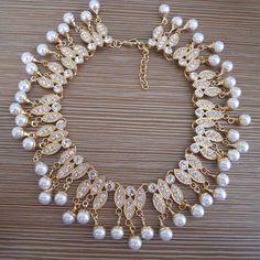2016 New Fashion Jewelry Women Bijoux Gold Plated Chain Crystal Tassel Choker Collar Necklace Bib Statement Necklaces