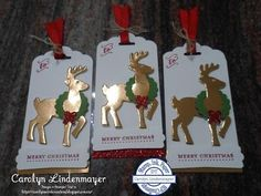Carolyn's Card Creations: Stamp, Ink, Paper #66 - Christmas Tags