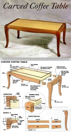 Carved Coffee Table Plans - Furniture Plans and Projects | http://WoodArchivist.com