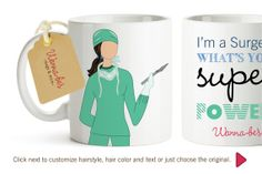 Custom Mug, the right gift for a surgeon! on Etsy, $14.99