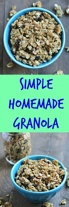 simple homemade granola with flaxseed Breakfast Recipes, Dessert Recipes, Snack Recipes, Cooking Recipes, Breakfast Ideas, Morning Breakfast, Oatmeal Recipes, Home Recipes, Dinner Recipes