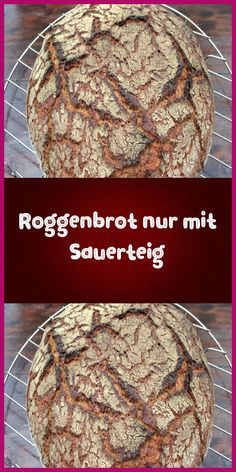 Roggenbrot nur mit Sauerteig Recipes for baking from Jens Fehling. Bake even delicious breads with s Healthy Dessert Recipes, Baking Recipes, Dinner Recipes, Desserts, Pain Au Levain, Cheesecake, Ground Beef Recipes Easy, Rye Bread, Breads
