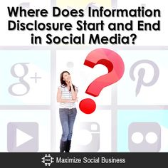 Where Does Information Disclosure Start and End in Social Media?