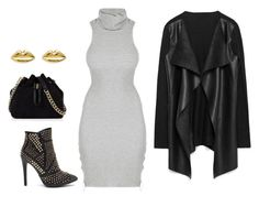"""Grey x Black x Gold"" by hautecoutureblvd on Polyvore featuring Karen Millen"