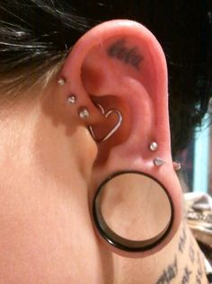 Ring In Kaars.19 Best Ears Images Stretched Ears Piercings Stretched