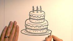New Birthday Cake Cartoon Drawing For Kids Ideas Cartoon Birthday Cake, Cute Birthday Cakes, Birthday Wishes, Birthday Gifts For Boyfriend, Boyfriend Gifts, Happy Birthday In Cursive, Cartoon Drawing For Kids, Art For Kids Hub, Cake Drawing