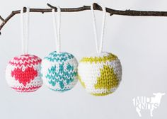 Knit Christmas Baubles