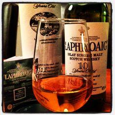 "Laphroaig 10yo - Islay Single Malt Scotch Whisky   Can't Spell ""Peat"" without ""eat""   Laphroaig 10yo / 25yo available at Ice Cube #Chandigarh"