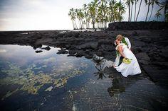 Hawaii wedding at the Place of Refuge, south Kona, on the Big Island of Hawaii.  www.eyeexpression.com