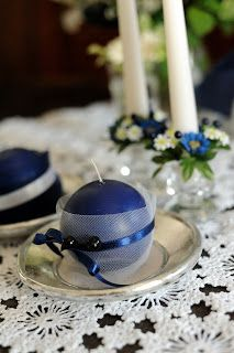 blueberry accessories Blueberry Wedding, Tea Lights, Candles, Accessories, Tea Light Candles, Candy, Candle, Pillar Candles