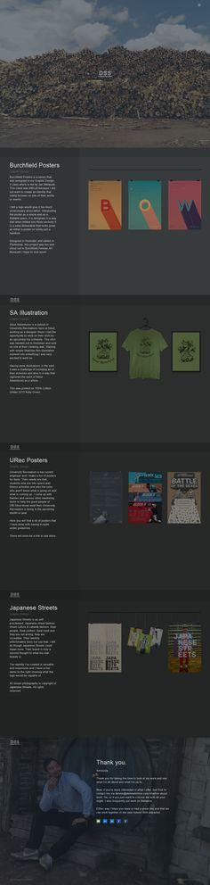Dennis Sengthong - Flat Design Website