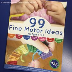 99 Fine Motor Ideas is a collaborative early learning book for parents and teachers. It's full of activities that can easily be made at home with everyday items, practical and purposeful. It's divided into sections such as sensory play, light table, busy bags, practical life. We recommend it for the home or the ECE classroom.