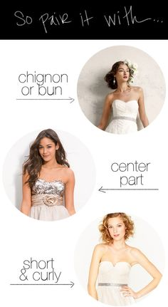 how to wear your hair with a strapless dress