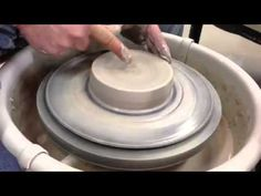 Centering Clay on the pottery wheel / side view - YouTube