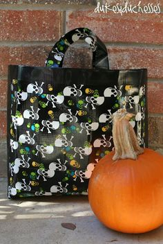 Made from duct tape! 25 DIY Halloween Trick-or-Treat Bags & Totes
