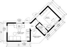 Attefall FLEX – Planlösningar   IKONHUS Small House Layout, House Layouts, Compact House, Compact Living, Modular Homes, Prefab Homes, Tiny Homes, Backyard Guest Houses, Off Grid Cabin