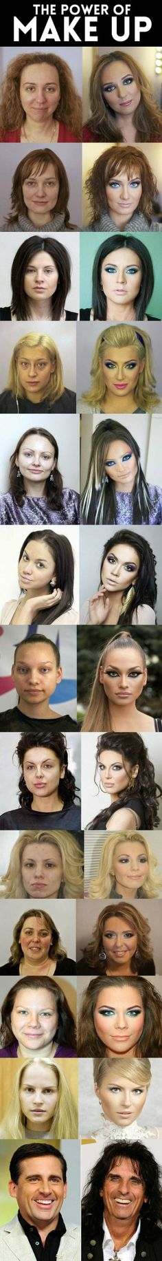 Funny GIF power of makeup