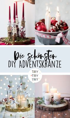The most beautiful DIY Advent wreaths / Advent wreath / Advent / DIY advent wreath bas . - The most beautiful DIY Advent wreaths / Advent wreath / Advent / DIY DIY wreath / Make your own Chr - Christmas Room, Christmas Holidays, Christmas Wreaths, Christmas Crafts, Christmas Decorations, Xmas, Advent Wreaths, Table Decorations, Diy Pinterest