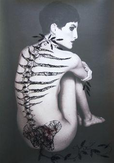 "Jose Romussi ""X (colaboration by Amanda Charchian )"" Spine"