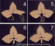 Crochet tutorial for beginner Crochet tutorial for beginner Crochet Leaf Patterns, Crochet Doily Rug, Crochet Leaves, Crochet Fall, Form Crochet, Thread Crochet, Crochet Flowers, Irish Crochet Tutorial, Crochet Flower Tutorial