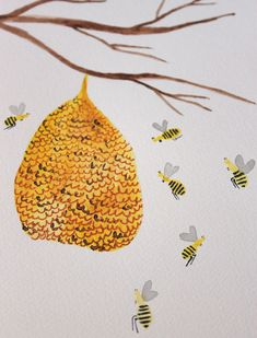 beehive painting tutorial.