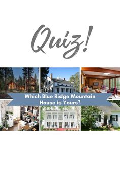My publisher and I designed this quiz! Take it to find our which of the homes (lived in by the characters of my Misty River Romance series) would suit you best. #housequiz #BlueRidge #GeorgiaFiction