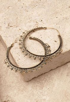 Filigree Trim Hoop Earrings from Forever Saved to Forever Shop more products from Forever 21 on Wanelo. Cute Jewelry, Jewelry Sets, Silver Jewelry, Jewelry Accessories, Jewelry Design, Silver Ring, Jewlery, Diamond Studs, Diamond Earrings
