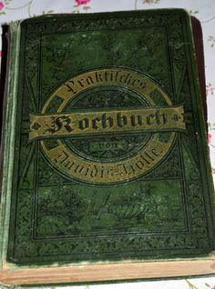 Many new, old books in my cook book library now! Here is one of them..... An old german cook book from the 19th century. Written by a lady called Henriette Davidis 1801-1876. She was a famous cook book and household book writer at that time in Germany.