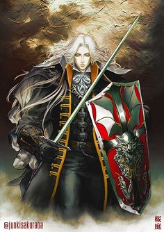 Alucard - Castlevania Symphony of the Night by junkisakuraba on DeviantArt Castlevania Games, Alucard Castlevania, Castlevania Netflix, Castlevania Lord Of Shadow, Gothic Horror, Arte Horror, Castlevania Wallpaper, Vampire Hunter D, Lord Of Shadows