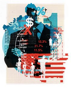 New Scientist / 'Inequality' - Alex Williamson, Images commissioned to illustrate article on inequality and the wealth of the Political Art, Political Events, Mixed Media Collage, Collage Art, Collages, Office Artwork, Propaganda Art, Protest Art, New Scientist