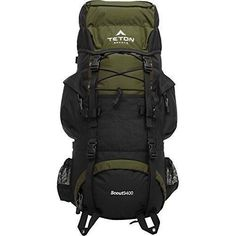 Camping Backpack 3400 Internal Frame Backpack Hiking Hunting Outdoors Rain Cover #TetonSports