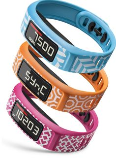 vívofit 2 is an activity tracker that features 1+ year batter life and is now available in designs by Jonathan Adler. This pack is called the Palm Beach trio and includes Nixon Square, Nixon Octagon and Sybil. Visit Garmin for more information.