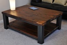 square coffee table metal and wood - Google Search