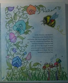 Ivy And The Inky Butterfly Johanna Basford Prismacolor Premier Sweet Peas Bumblebee
