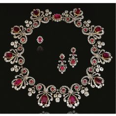 Ruby and diamond parure, 1820s and later - Sotheby's