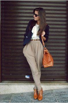 Rocking the silk pants trend! :)