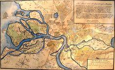 1698. Map of Saint-Petersburg, #Russia