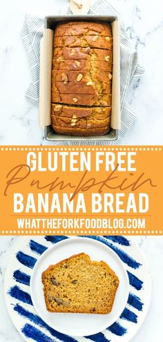 Fall flavor meets banana bread in this gluten free pumpkin banana bread. It's the perfect way to use up old bananas and open cans of pumpkin. Gluten Free Quick Bread, Gluten Free Banana Bread, Gluten Free Pumpkin, Gluten Free Baking, Gluten Free Desserts, Dairy Free Recipes, Fodmap Recipes, Recipes With Yeast, Quick Bread Recipes