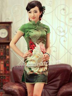 green-short-silk-qipao-cheongsam-chinese-dress-94b778ff-600x800.jpg (500×667)